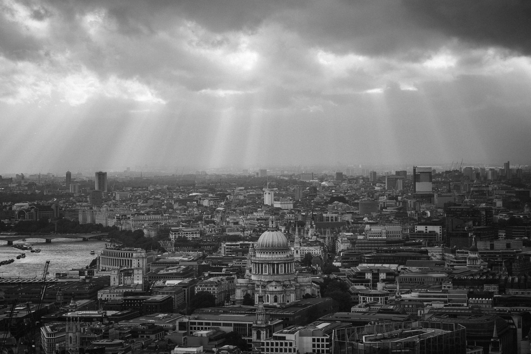 the London skyline view from the Gherkin