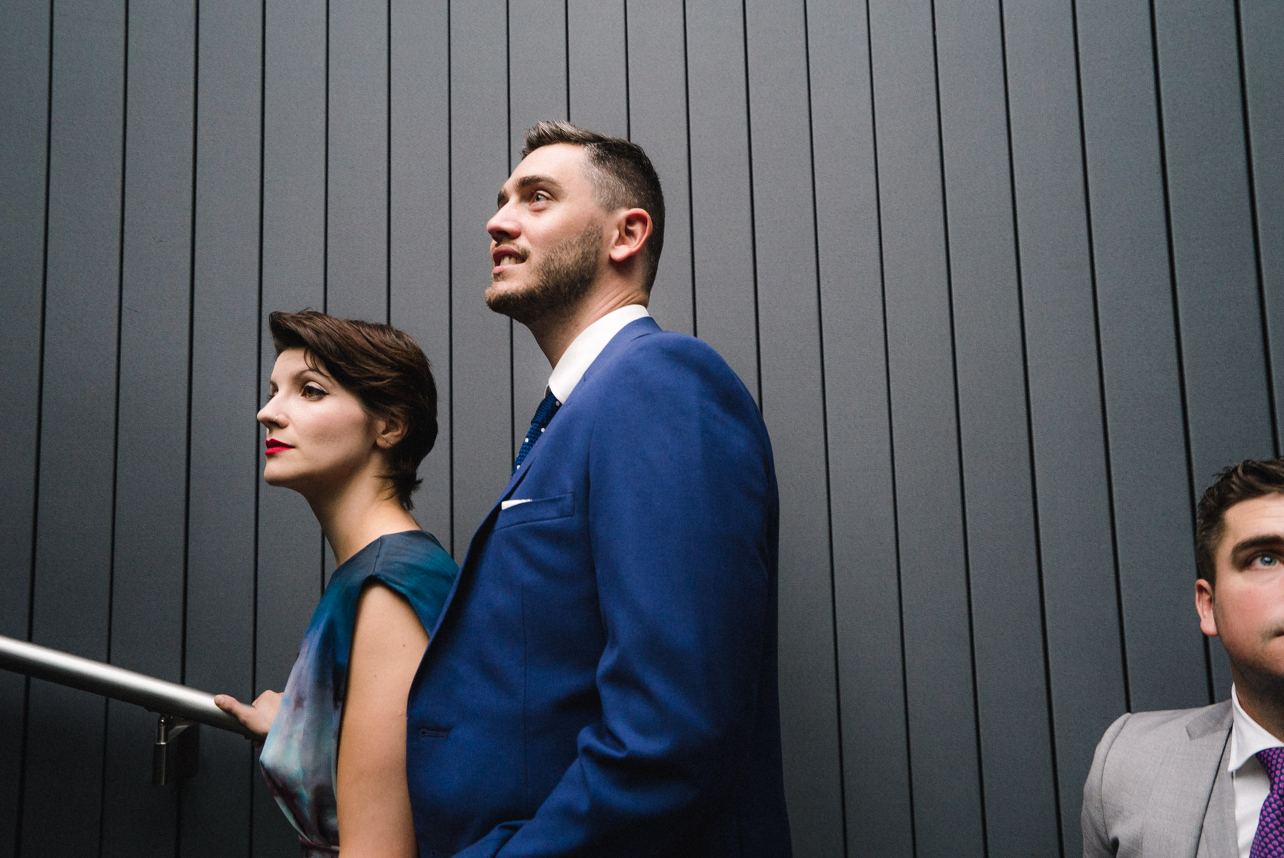 a portrait of wedding guests