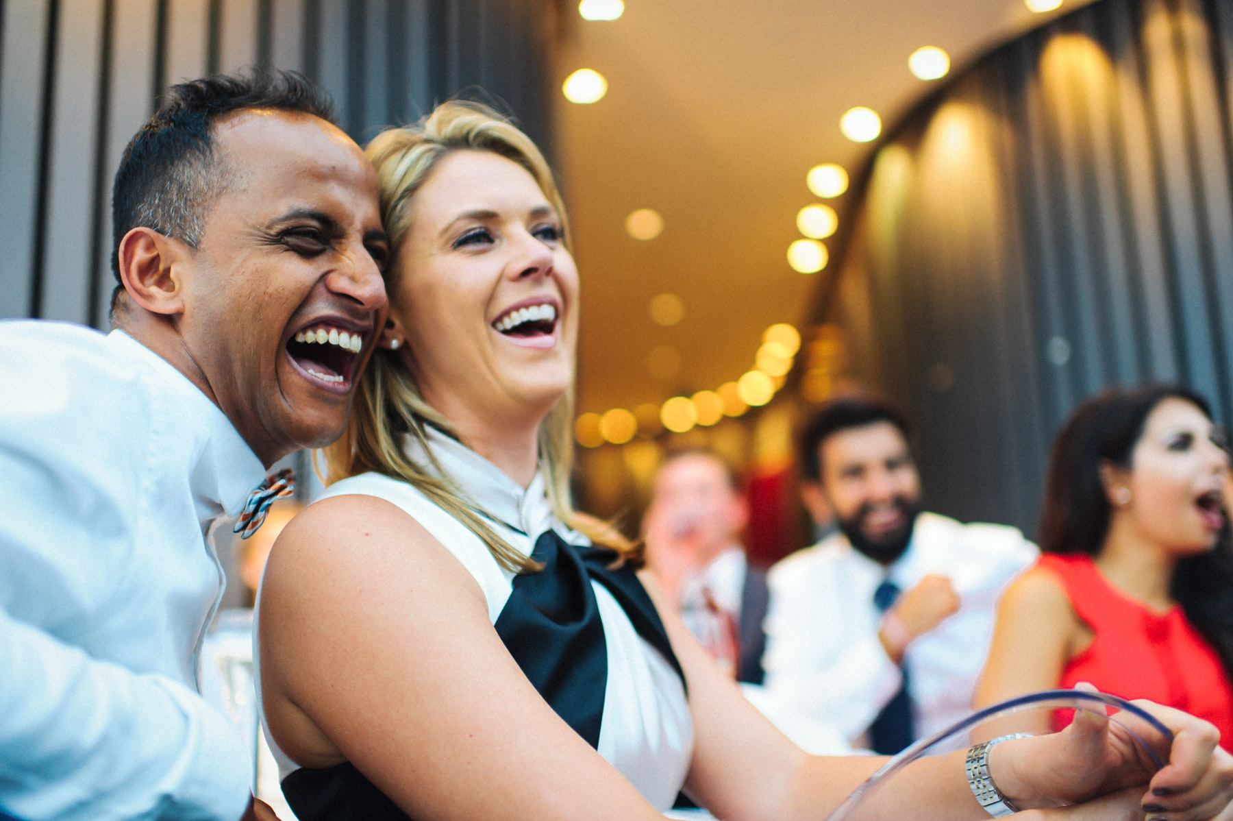 laughter during the wedding speeches