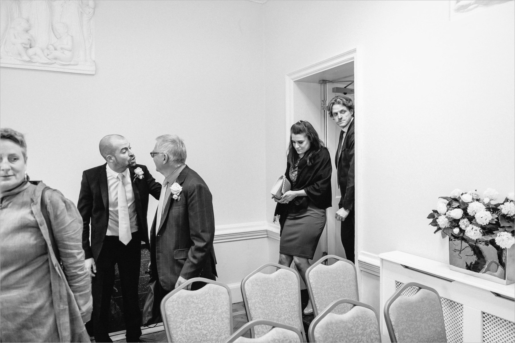 guests enter the ceremony room