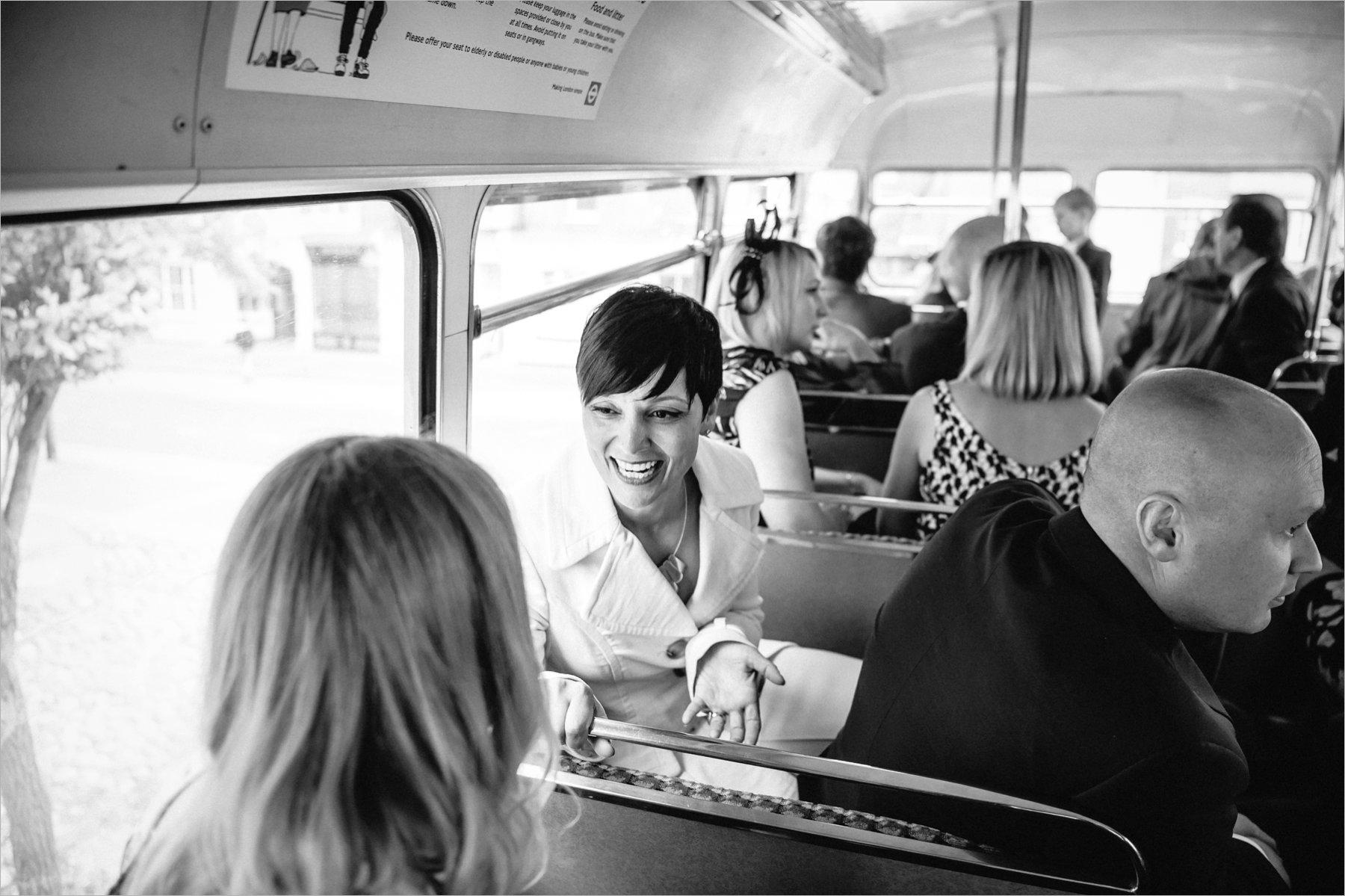 the wedding bus
