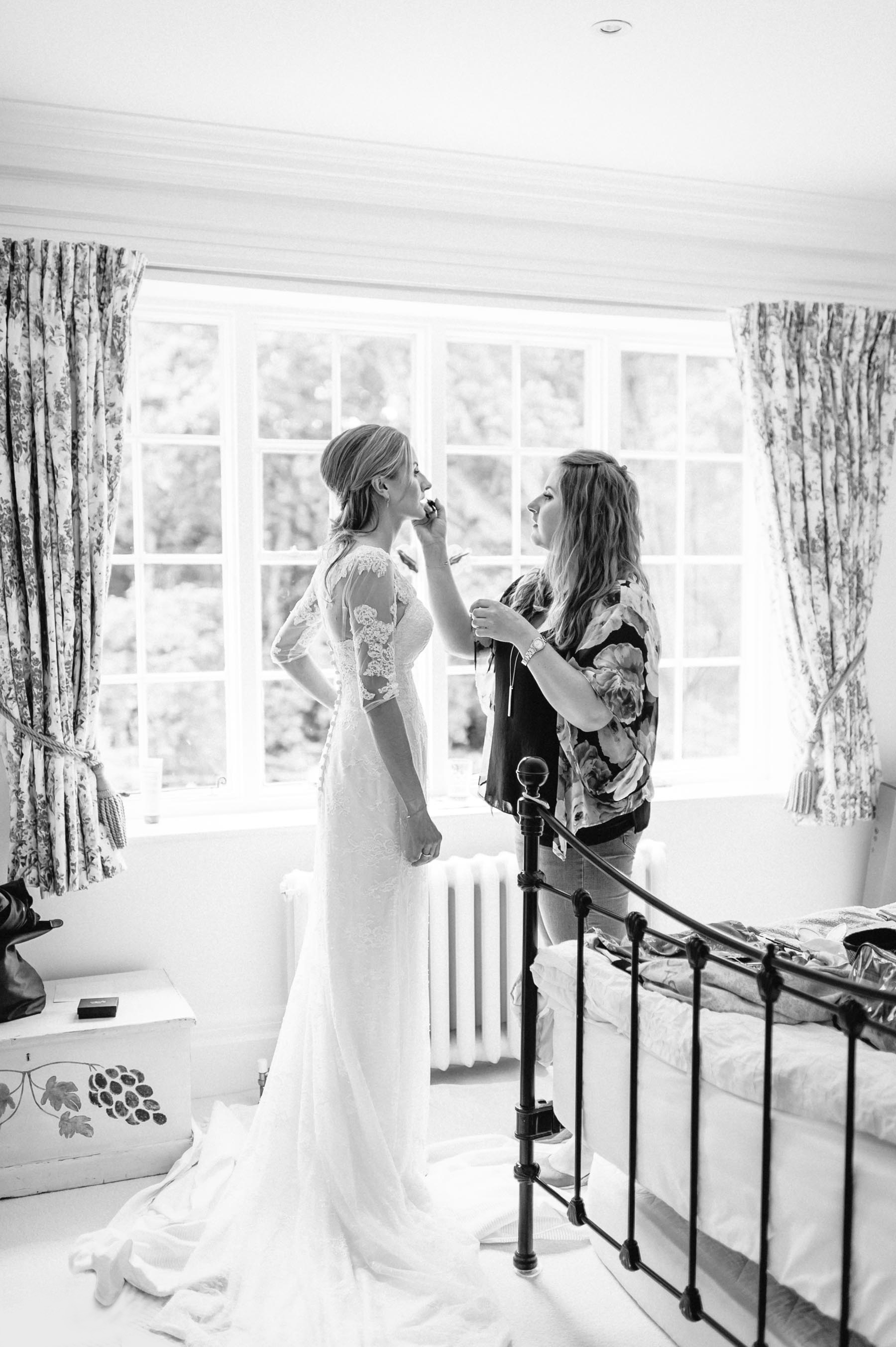 sophie gets ready for her Holy Trinity Church Guildford wedding