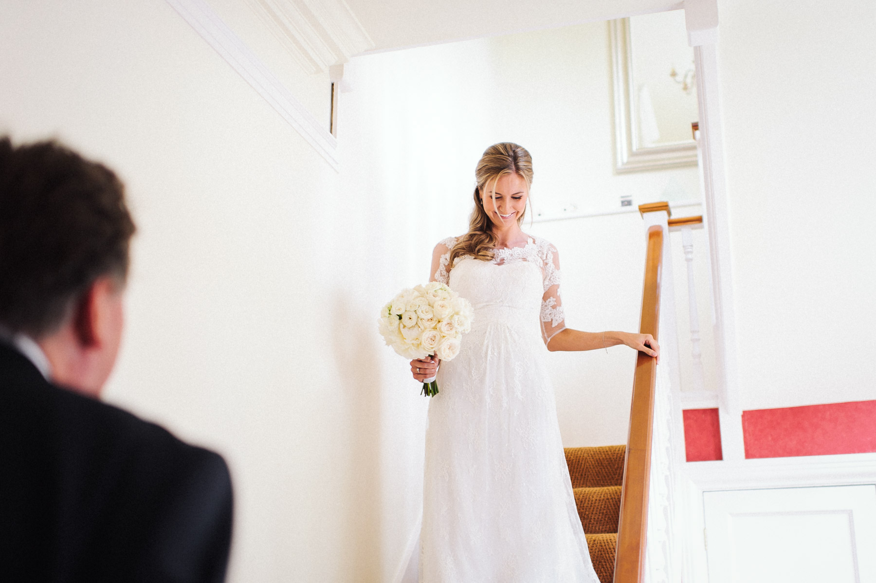 Sophie leaves for her wedding ceremony at Holy Trinity Church Guildford