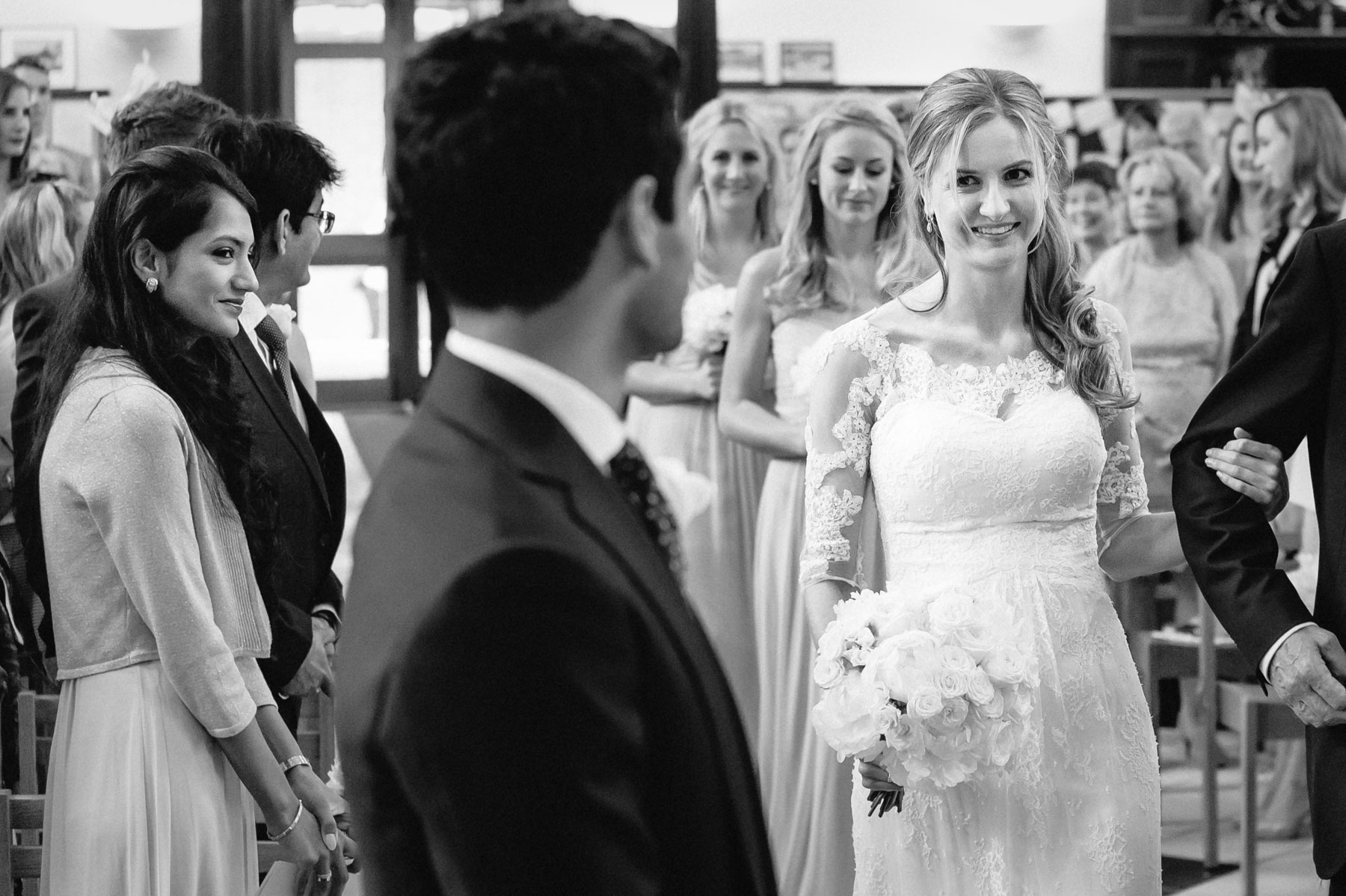 the arrival of the bride