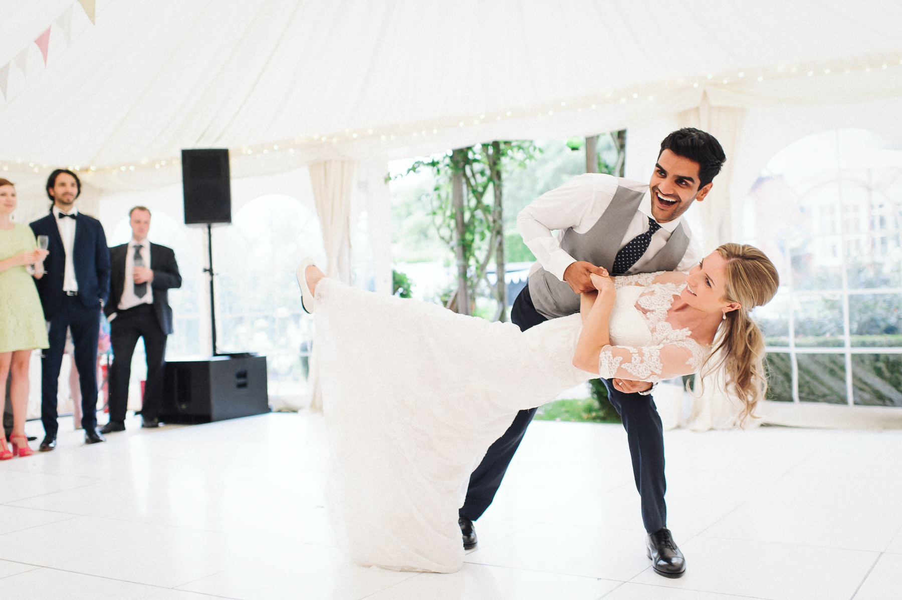 the dance lessons pay off during the bride and groom's first dance