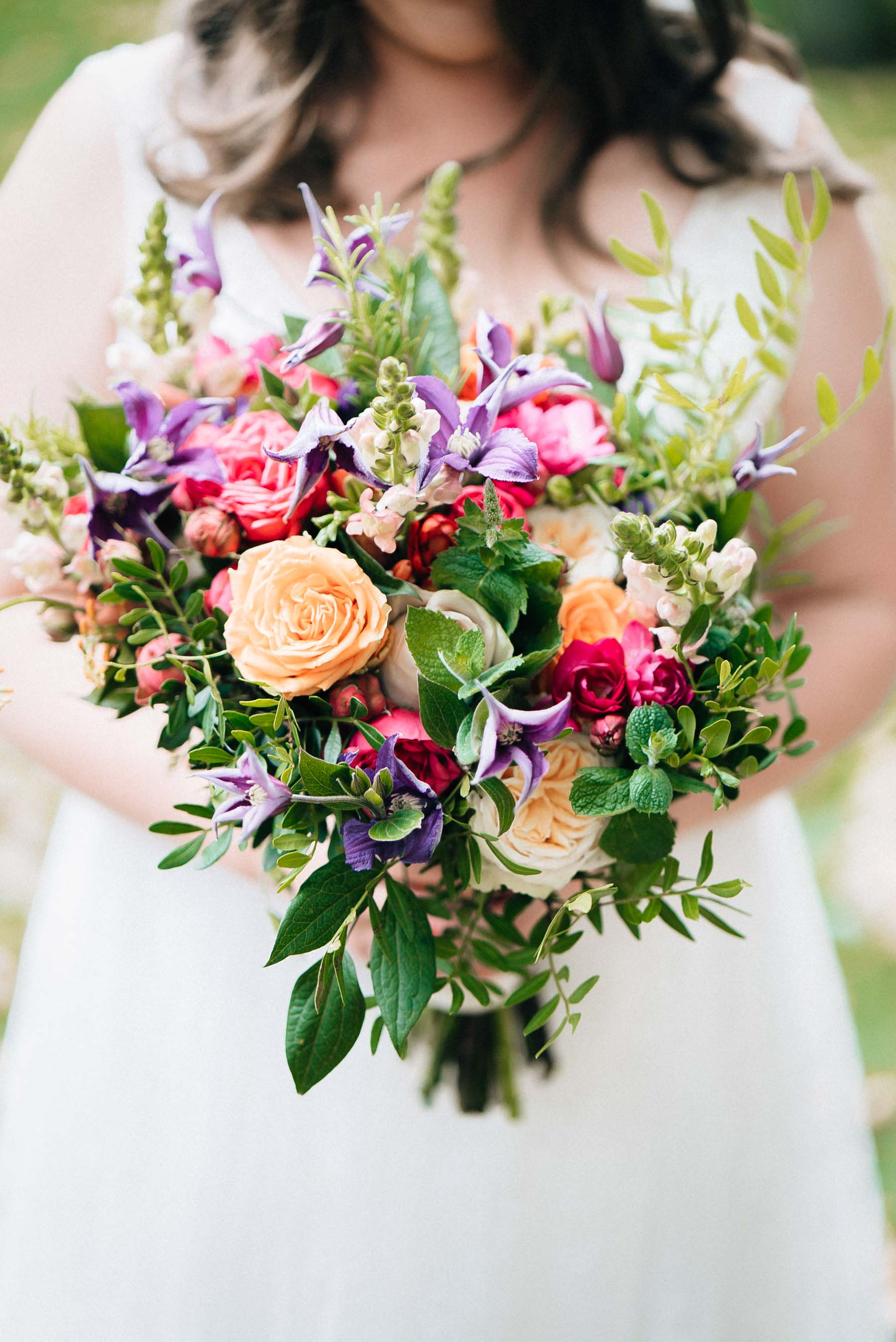 the wedding bouquet