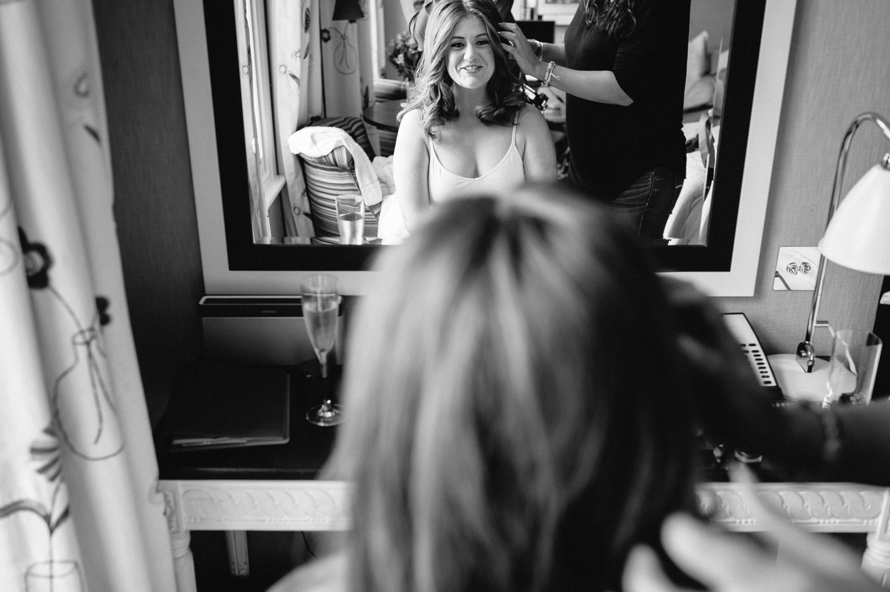 the bride getting ready for her London wedding